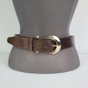 Guess Brown Leather Belt Size M